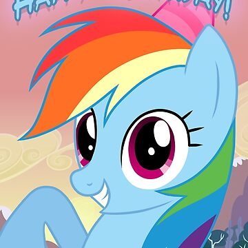 My little Pony: Friendship is Magic - Rainbow Dash Birthday Card / Postcard by FalakTheWolf