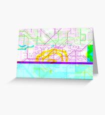 Glitch Map - London Underground Greeting Card