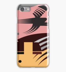 Rush Hour - Calm in the Cityscape Design by Jenny Meehan iPhone Case/Skin