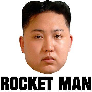 ROCKET MAN [black text] by kixlepixel