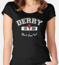 Derry, Maine (White Font) Women's Fitted Scoop T-Shirt