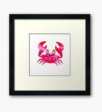 Cartoon Crab Framed Print