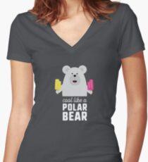 Cool like a polar bear Rwyv8 Women's Fitted V-Neck T-Shirt