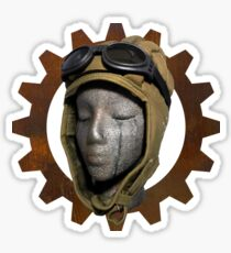 Gear Head Dieselpunk Steampunk Sticker