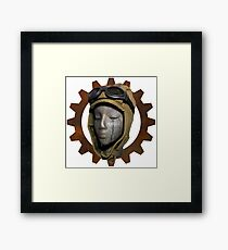 Gear Head Dieselpunk Steampunk Framed Print