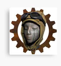 Gear Head Dieselpunk Steampunk Canvas Print