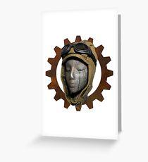 Gear Head Dieselpunk Steampunk Greeting Card