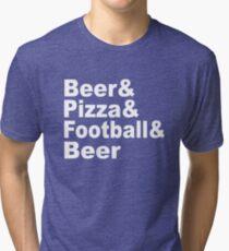 Beer & Pizza & Football & Beer Tri-blend T-Shirt