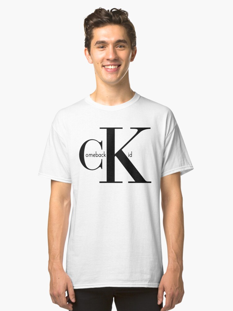 Kasabian // Comeback Kid T-shirt - Serge Pizzorno Reading/Leeds Style. CK Classic T-Shirt Front
