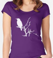 Little Birdy - White Women's Fitted Scoop T-Shirt