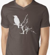 Little Birdy - White Mens V-Neck T-Shirt