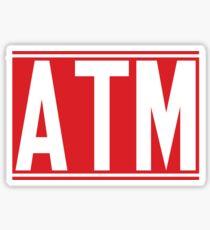 ATM Sticker