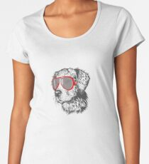 style dog with glasses Women's Premium T-Shirt