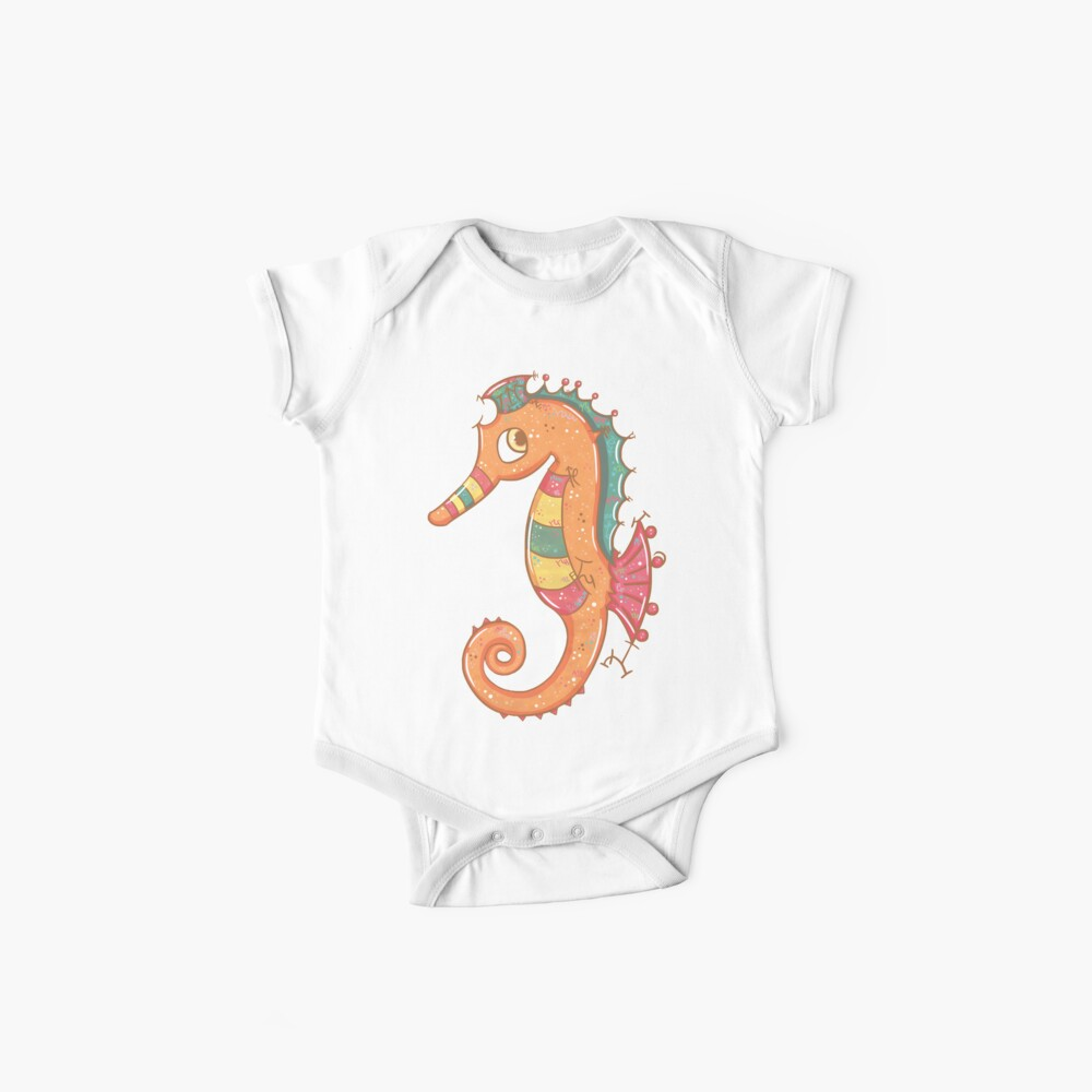 Sparkly Little Seahorse Baby One-Piece