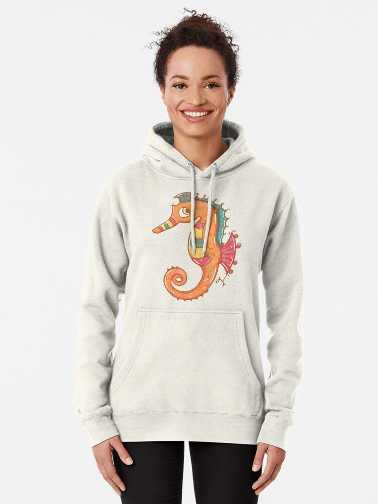 Alternate view of Sparkly Little Seahorse Pullover Hoodie