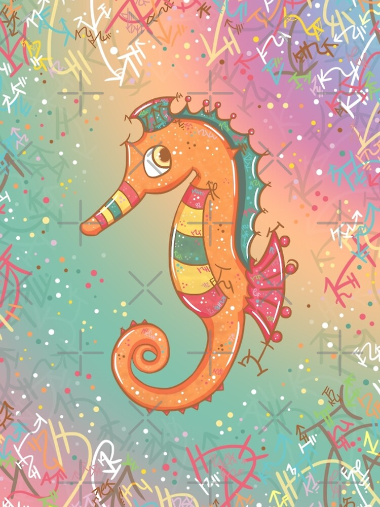 Sparkly Little Seahorse by vanillakirsty