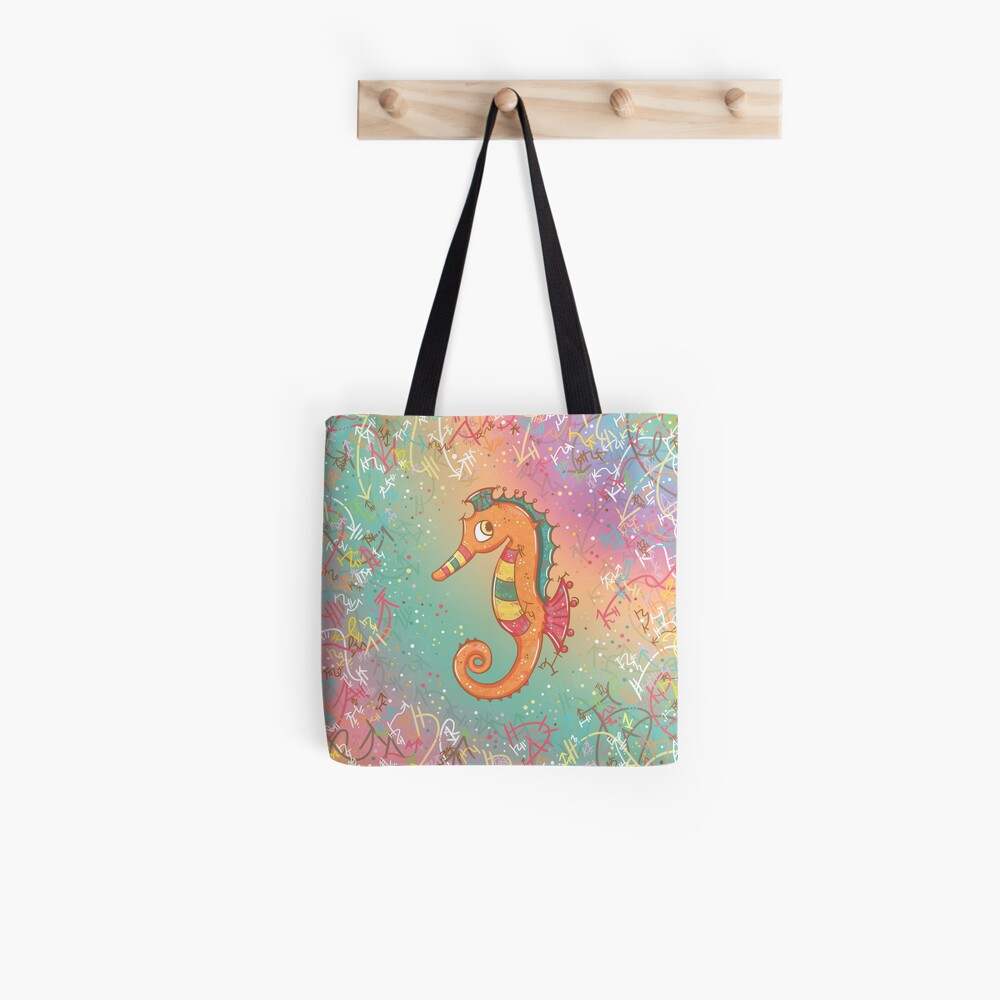 Sparkly Little Seahorse Tote Bag