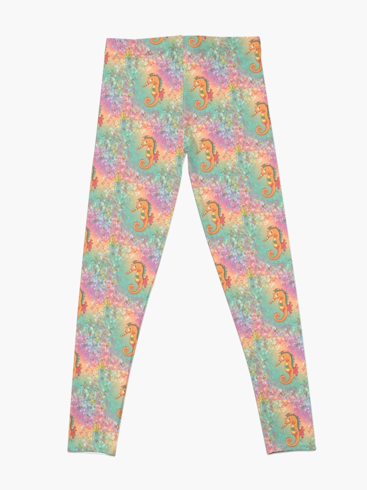 Alternate view of Sparkly Little Seahorse Leggings