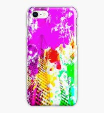 pyramid building and modern building exterior at San Francisco, USA with colorful painting abstract background iPhone Case/Skin