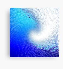 The Abstract Halftone Wave Background. Canvas Print