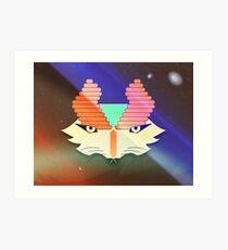 Galactic Mythical Fox Art Print