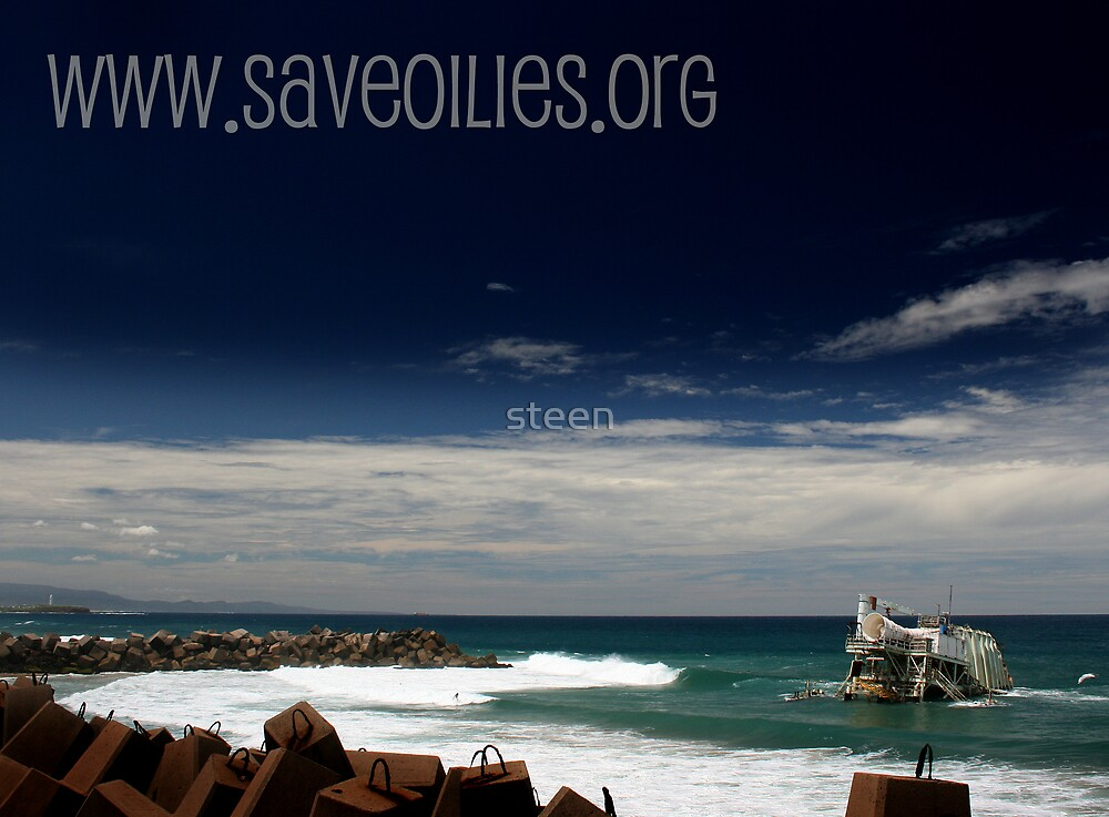 www.saveoilies.org please help us save our foreshore by steen