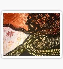 Yellow Brick Road-Inspired Walk/ Fiery Field Sticker