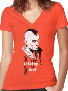 Travis Bickle - Taxi Driver Women's Fitted V-Neck T-Shirt
