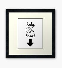 Baby on Board Framed Print