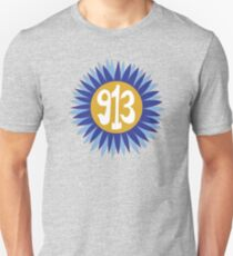 Hand Drawn Kansas Sunflower 913 Area Code Royals T-Shirt
