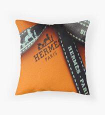 I Love Hermes Design Throw Pillow