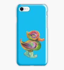 Snozzleberry Duck in autumn- put on your rain clogs iPhone Case/Skin