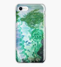 Blue/Green Deep Sea Turtle Fish Design iPhone Case/Skin