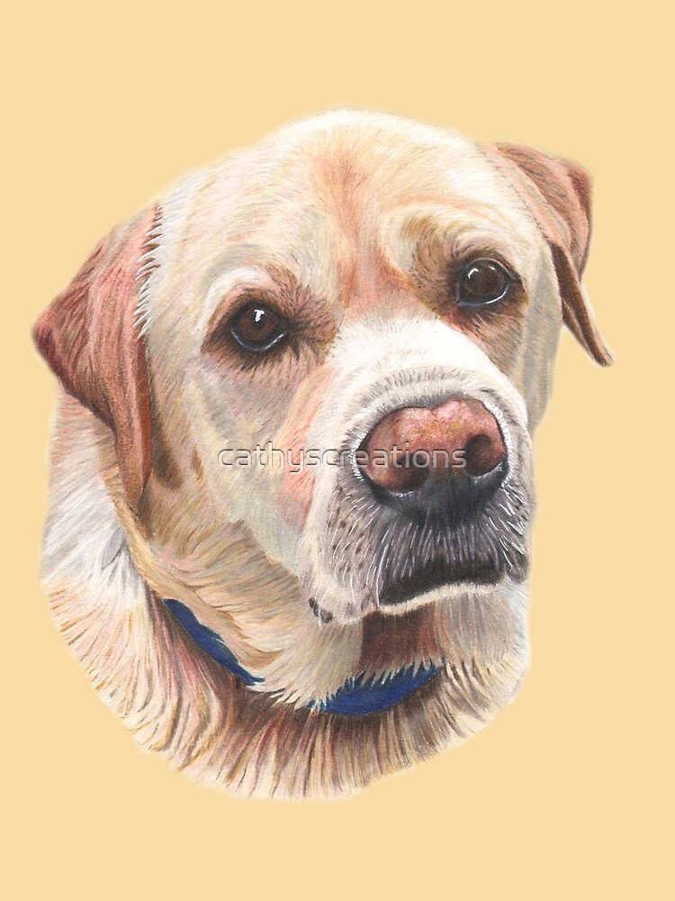 Yellow Labrador  by cathyscreations