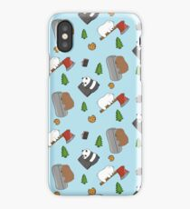 We Bare Bears Cartoon - Tiled Graphics Pattern iPhone Case/Skin