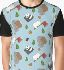 We Bare Bears Cartoon - Tiled Graphics Pattern Graphic T-Shirt
