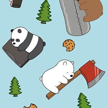 We Bare Bears Cartoon - Tiled Graphics Pattern by DomCowles12