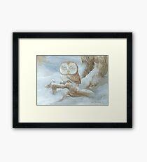Sleepy Owl Framed Print