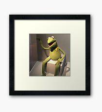 Hi Ho! Kermit the Frog Here Framed Print