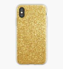 Gold Glitter Sparkly Shiny Metallic Yellow  iPhone Case