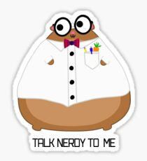 Harold The Fat Hamster: Talk Nerdy To Me Sticker