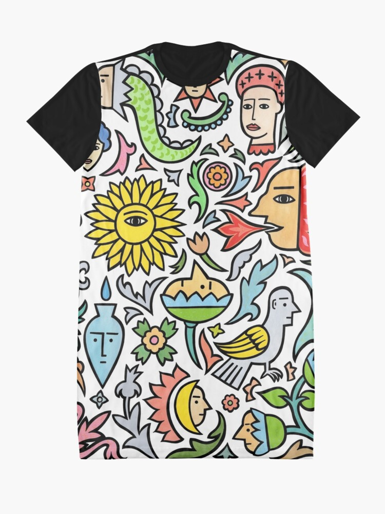 Alternate view of A bird among the other stuff Graphic T-Shirt Dress