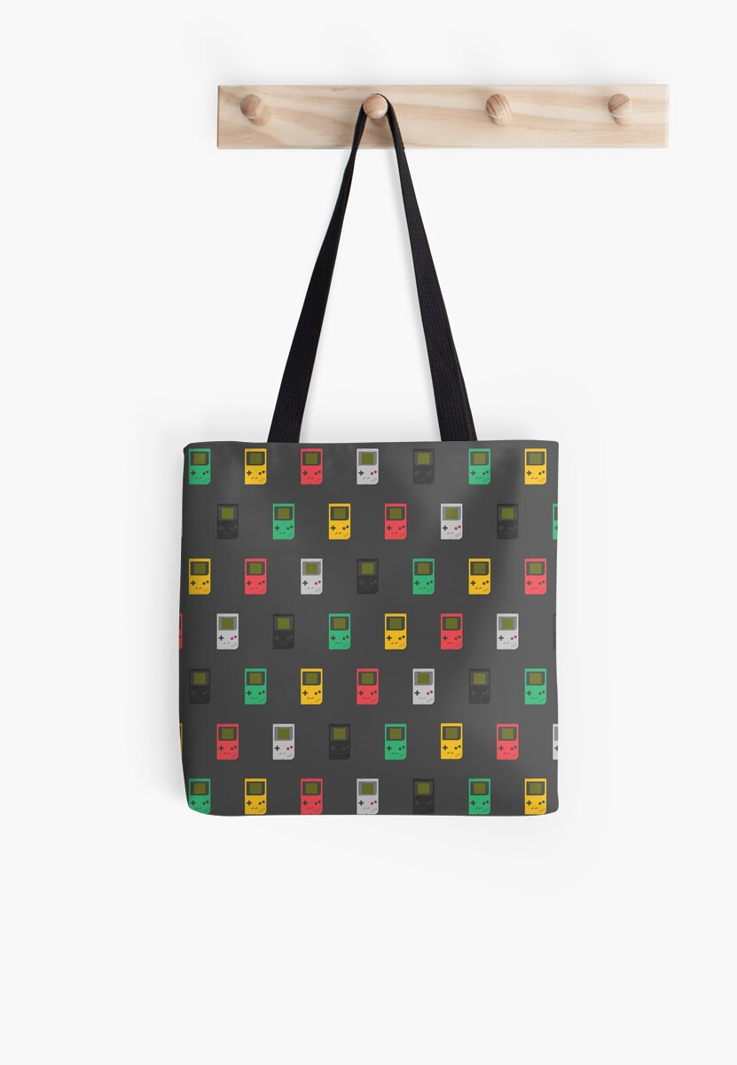 Gameboy Play it Loud! pattern (black) by animinimal