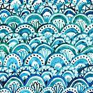 Blue Mermaid Pattern by julieerindesign