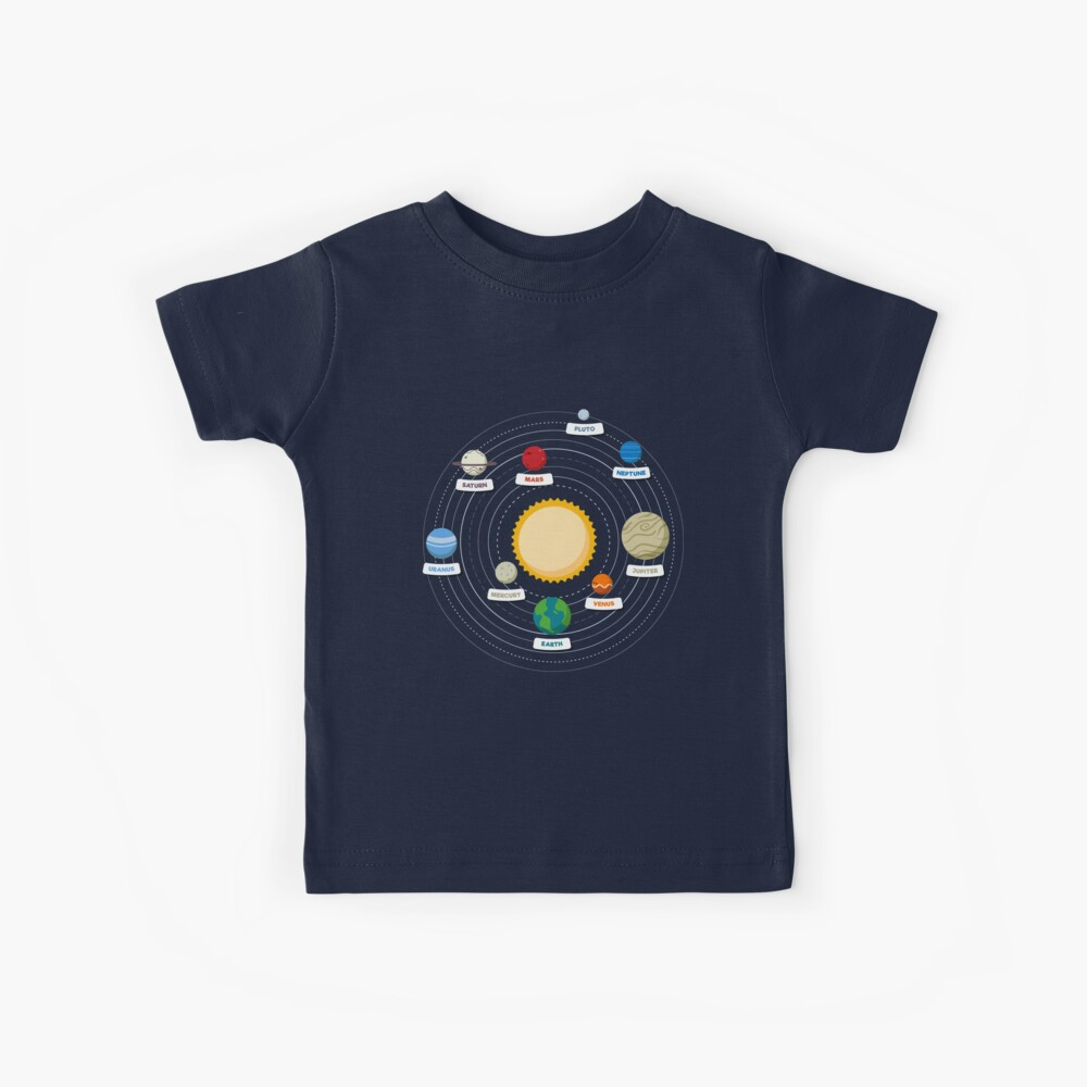 Planets of the Solar System Kids T-Shirt