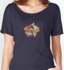 Galactic Mermaid On A Cloud With Flowers Women's Relaxed Fit T-Shirt