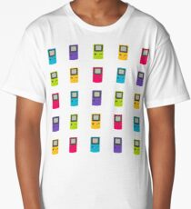 Gameboy Color pattern (white) Long T-Shirt