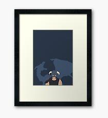 Dovah & Dovahkiin - Skyrim Block Colour Minimalist Framed Print