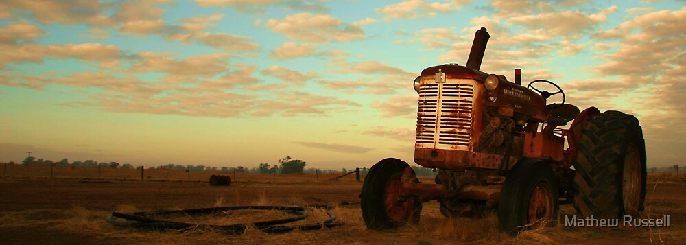 Tractor abandoned, on the farm, NSW by Mathew Russell