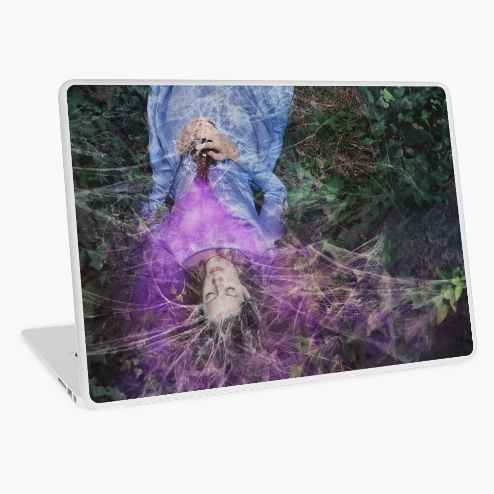 A Poisoned Sleep Of Kissless Dreams Laptop Skin
